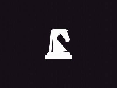Knight branding mark logo horse piece knight chess