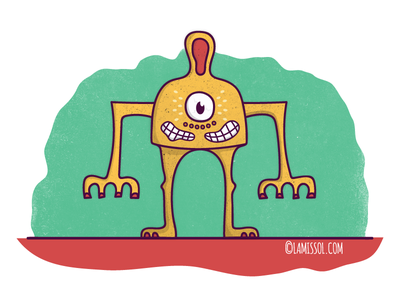 Character Design cartoon cyclops ear monster