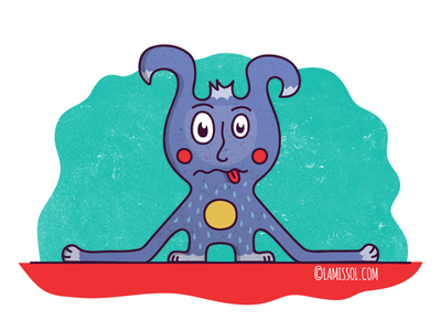 Character Design cartoon tongue furry illustration character