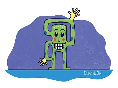 Character Design spots gloves cartoon smile illustration character
