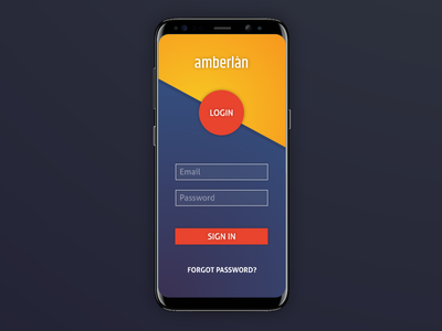 Login Screen for Mobile App password login startup intro ux ui sign in app mobile log in