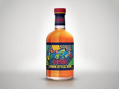 Rito Rito - Bottle Packaging trombone saxophone trumpet musical music spirit drink alcohol typography logo branding jazz band cuban rum package design packaging bottle design bottle label bottle