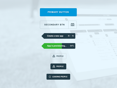 Wow. Such Buttons. ui buttons tooltip hover