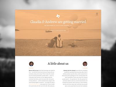 Just peachy. site onepage wedding