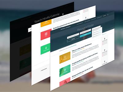 Resources. layout color thumbnails calm