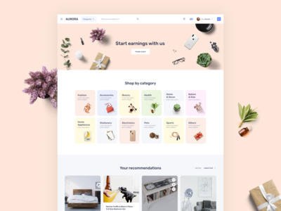 Main page for Social Marketplace