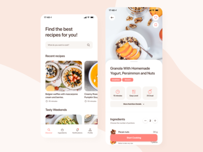 Social Cooking Network Mobile Application
