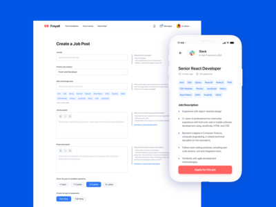 Freelancer Search Service Design Concept