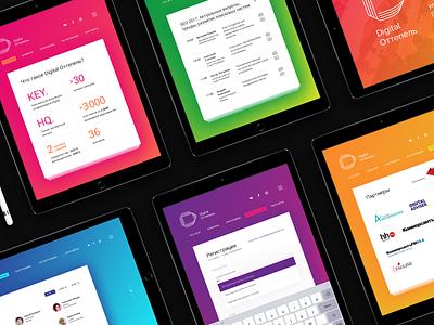 DO Event Website desktop web web design ipad tablet ux ui bright conference adaptive web page website event minimalism colorful gradient clean