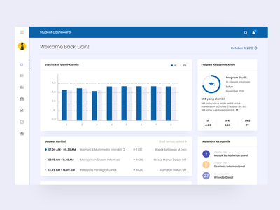 Student Dashboard Redesign dashboardui blue dashboad design userexperience web uxdesign userinterface uidesign ux ui