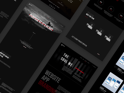 Sedjiwa Project creative agency agency website black dark webdesign uxdesign userinterface uidesign design ux ui