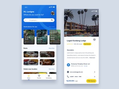 Wisata App | Exploration design tour travel preview home app landing uxdesign userinterface uidesign mobile app mobile clean booking android app android