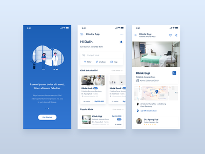 Klinikku App | Exploration home onboarding interface illustration clean userexperience simple mobile apps android uxdesign ux design userinterface uidesign ui