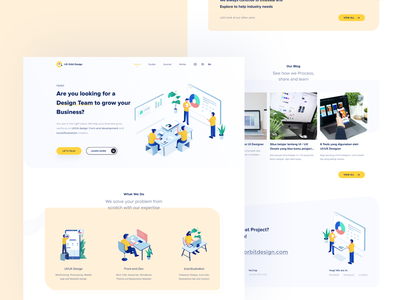 UX Orbit Design | Landing Page userexperience mobile mobileweb illustration landingpage website design web design design ui web userinterface uidesign webdesign