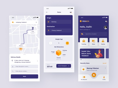 VegBox App | Exploration #2 pickup shipping price illustration location rates home delivery home screen map clean android mobile apps uxdesign userinterface ui design ux uidesign