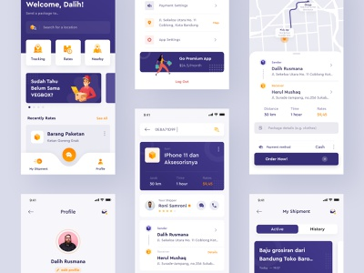 VegBox App | Exploration #3 android tracking shipping contact uxdesign userinterface ui design ux uidesign shipment payment location maps logistic delivery map profile homescreen home