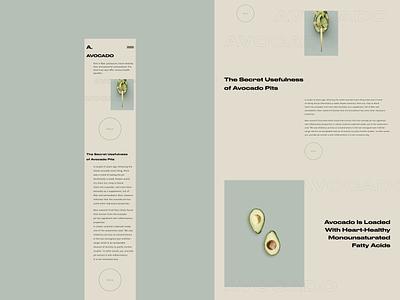 Concept Avocado figmadesign figmotion figma typography minimalism ux ui webdeisgn website web design