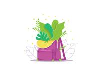 Рюкзак с растениями