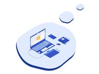 My desktop isometric