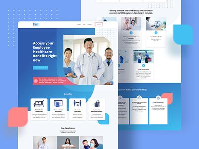 Medical/ Health care web Design header medical website design medical design medical app healthcare photoshop branding typography illustration ux figma design ui