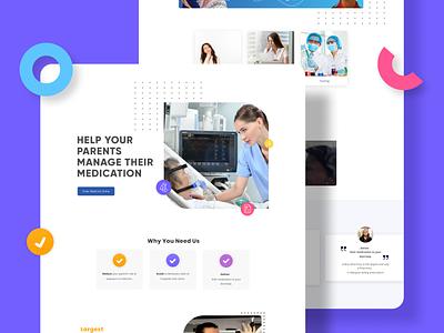 Health care web UI designs branding ui design uiux health website medical website design medical app healthcare photoshop typography ux figma design ui