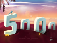 5k followersAn illustration celebrating our 5,000 followers