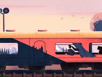 Homeward. 插图 颜色
