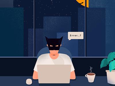 Coders working late night be like working working late batman vector batman illustrations batman developer illustrations developers coders