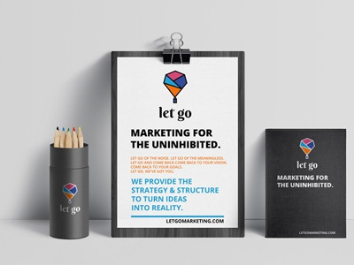 Let Go Marketing Logo marketing logo branding logo design logo