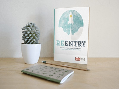 Reentry Workbook for LeaderTreks layout book book design workbook logo ministry church