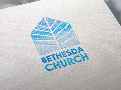 Church Logo ministry branding logo design gradient logo church
