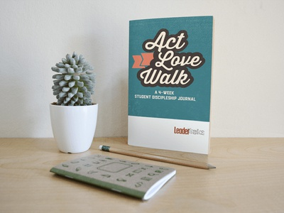 Act Walk Love Journal Design church cover design book cover book design indesign illustrator ministry graphic design journal