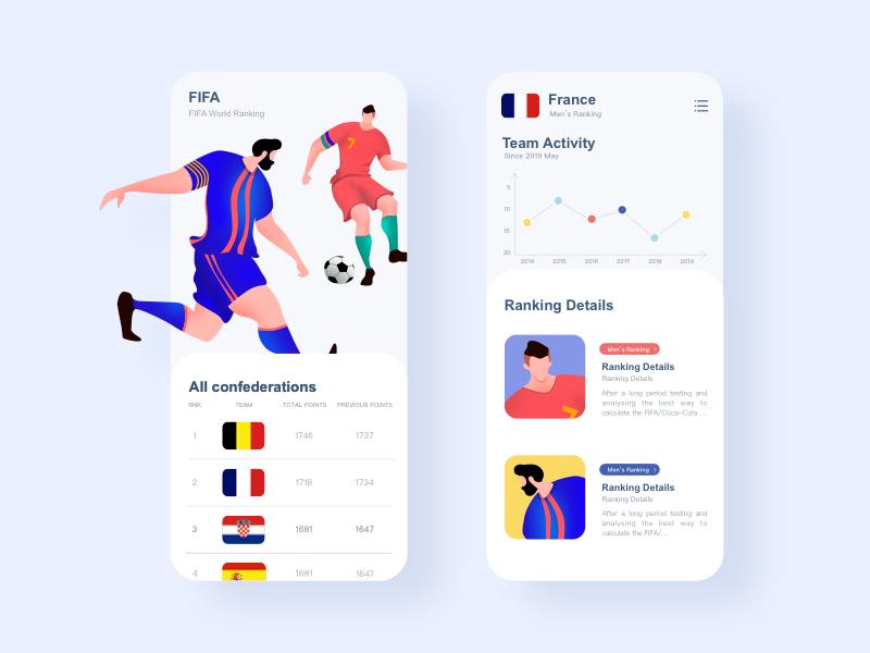 FIFA App vector illustration design ui