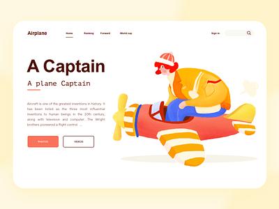 A plane caption website ui branding web illustration design