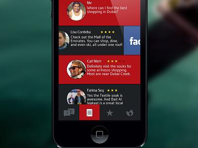 Conceptual inflight service app for Emirates emirates app swipe share iphone photoshop facebook