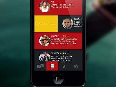 Conceptual inflight service app for Emirates app emirates swipe favorites photoshop