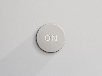 Beige Round Button button round ui gui photoshop