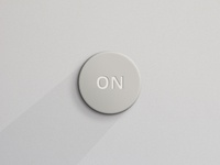 Beige Round Button