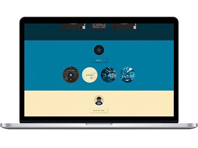 DJ Website website scroll colors dj