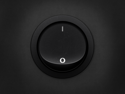 Button switch button realistic dark subtle