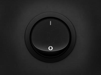 Button switch button realistic dark subtle