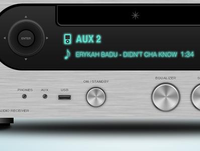 Audio Receiver audio receiver amplifier music erykah brushed steel photoshop