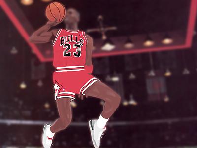 Jordan michael jordan basketball illustration photoshop sneakers