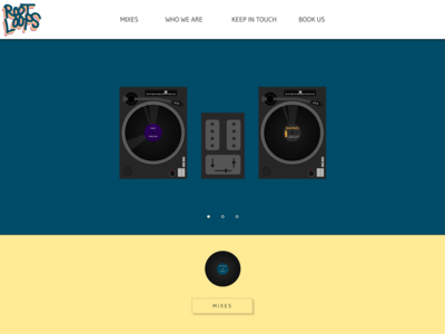 DJ website website web layout dj turntable photoshop vinyl