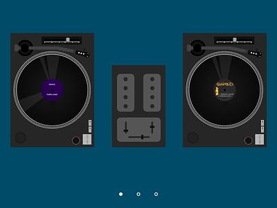 Dj website hero website web layout dj turntable photoshop vinyl hero prince quastimoto lord quas quasimoto
