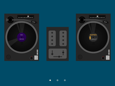 Dj website hero website web layout dj turntable photoshop vinyl hero prince quastimoto lord quas quasimoto