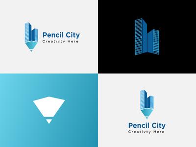 Real Estate Pencil City logo design