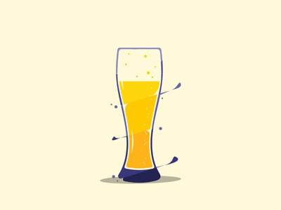 glass beeer animation flat  design graphic  design design logo icon vector illustration beer art beer beer label glass beeer