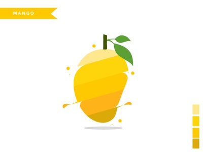 Mango character web branding flat  design icon vector logo illustration graphic  design design