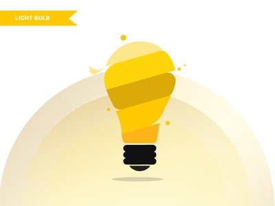 light bulb minimal icon branding flat  design vector logo illustration graphic  design design